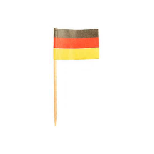 """Partypicker, Flaggen 8 cm """"Deutschland"""" - Bild 1"""