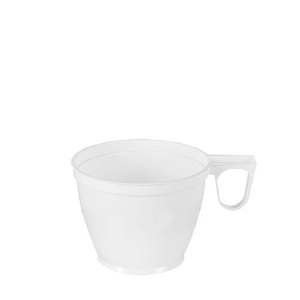 Einweg-Kaffeetassen, PS 0,18 l Ø 7,8 cm · 6 cm weiss - Bild 1