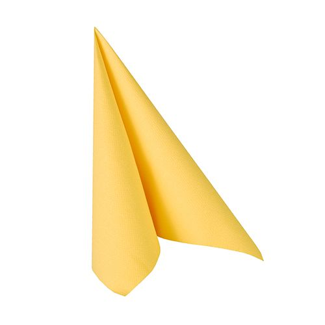 "Servietten, gelb ""ROYAL Collection"" 1/4-Falz 25 x 25 cm - Bild 1"