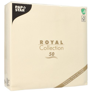"Servietten, champagner ""ROYAL Collection"" 1/4-Falz 48 x 48 cm - Bild 3"