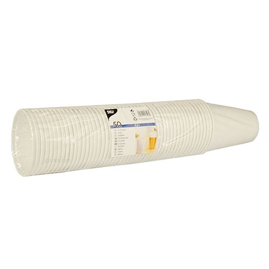 Plastikbecher (PP), 0,3 l Ø 9,5 cm · 11,1 cm weiss mit Schaumrand - Bild 2