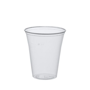 Plastikbecher (PS) 0,3 l Ø 9,5 cm · 11 cm klar mit Schaumrand - Bild 1